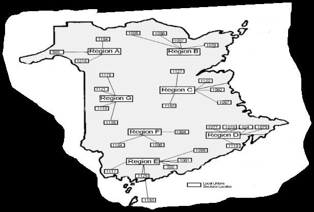 Map of regions